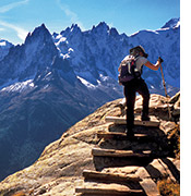French and Italian Alps walking and hiking photo